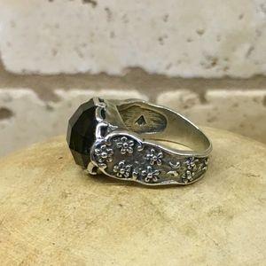 Silpada Smoky Glass Ring - NWOT